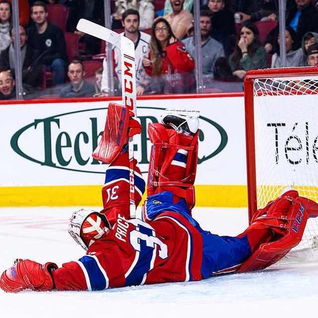 Carey Price's last second acrobatic save on Alex Ovechkin is one of the best photos so far this season