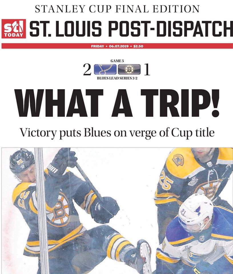 No mercy from the St Louis Post this morning!