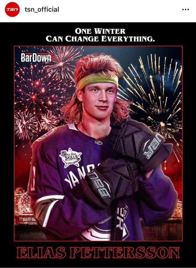 Is this what Pettersson would look like if he played in the 80s?