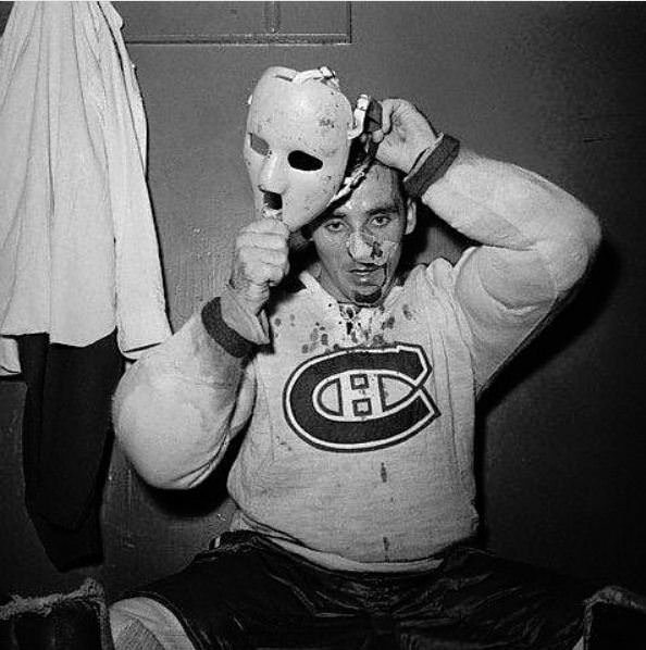 Jacques Plante, 1959: After getting hit in the face with a puck three minutes into a game, Plante went for repairs and later returned in the same game wearing a mask, becoming the first NHL Goalie to do so